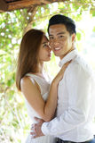 Asian couple in a happy relationship Royalty Free Stock Photo