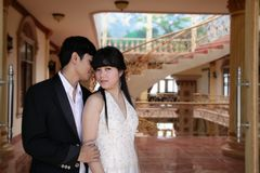 Asian couple indoor Royalty Free Stock Photography
