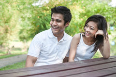 Asian Couple Lifestyle on Table Stock Photo
