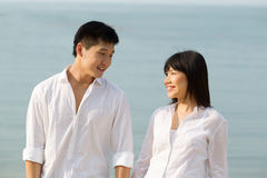 Asian couple looking at each other Stock Images