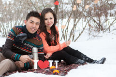 Asian couple in love Royalty Free Stock Photos