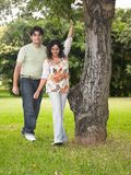 Asian couple in the park Royalty Free Stock Photo