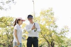 Golf Couple Royalty Free Stock Photo