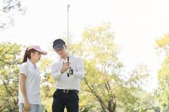 Golf Couple Royalty Free Stock Photos