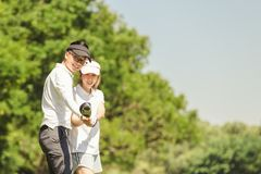 Golf Couple royalty free stock photography
