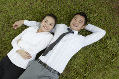 Asian couple relaxing Stock Images