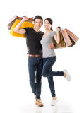 Asian couple shopping Royalty Free Stock Images