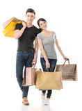 Asian couple shopping Stock Images