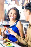 Asian Couple toasting Stock Images