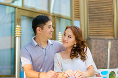 Asian couple together Royalty Free Stock Photos