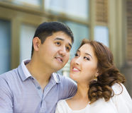 Asian couple together Stock Images