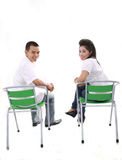 Asian couple on white Royalty Free Stock Photography