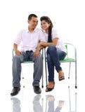 Asian couple on white Stock Photos