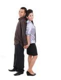 Asian couple on white Stock Image
