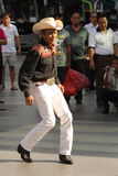 Asian cow-boy street dancer Royalty Free Stock Photo
