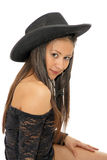 Asian cowgirl Stock Photo