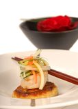 Asian crabcake and scallop appetizer Royalty Free Stock Images