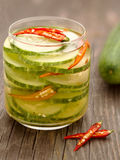 Asian cucumber pickle Stock Photo