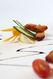 Asian cuisine. Ready to serve ribbonfish Stock Image
