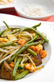 Asian cuisine with beans Stock Images