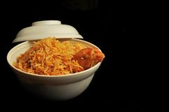 Asian cuisine chicken biryani Stock Photos