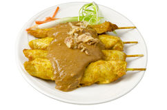 Asian cuisine chicken satay Stock Image