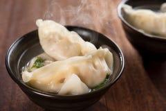 Asian cuisine dumplings soup Royalty Free Stock Photography