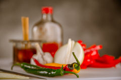 Asian cuisine, home-made natural, healthy food Royalty Free Stock Photo