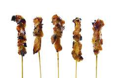 Asian cuisine satay chicken Stock Photography