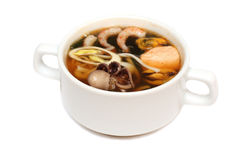 Asian cuisine, soup with seafood Stock Images