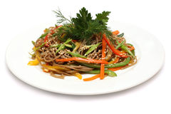 Asian cuisine - udon noodles Stock Images