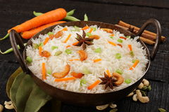 Asian cuisine -vegetarian fried rice Stock Images