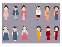 Asian culture icon vector set Royalty Free Stock Image