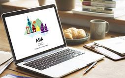 Asian Culture International Traveling Destination Concept Stock Images
