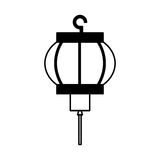 Asian culture lantern icon Stock Photography
