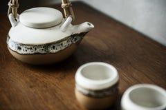 Asian culture tea pot set Stock Photos