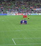 Asian Cup Soccer football game Stock Image