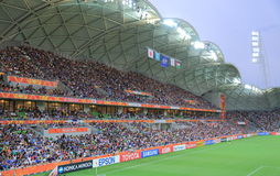 Asian Cup Soccer football game. People watch Asian Cup soccer match at AAMI Park Melbourne Australia Stock Photography