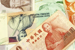Asian Currencies Stock Images