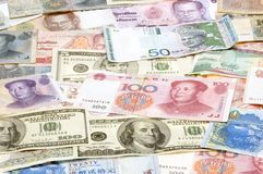 ASIAN CURRENCIES Stock Image
