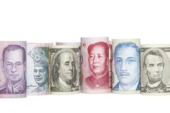 ASIAN CURRENCIES Stock Photography