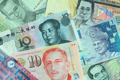 Asian Currencies Royalty Free Stock Images