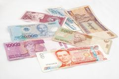 Asian currencies Stock Photos
