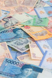 Asian currencies close up Stock Image