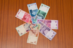 Asian Currency Royalty Free Stock Photos