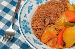 Asian curry bee hoon Stock Photo