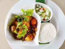 Asian Curry Dish With Rice Ethnic Food Stock Photos