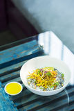 Asian curry vegetable cold rice noodle salad Royalty Free Stock Photography
