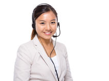 Asian customer service assistant Royalty Free Stock Photography