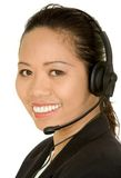 Asian customer service girl Royalty Free Stock Images